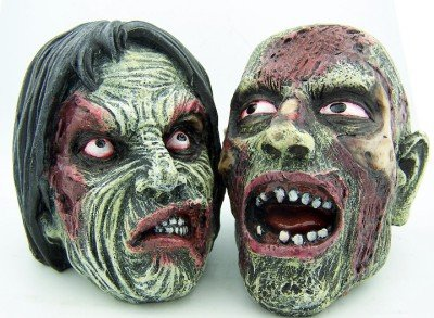 Bloody Zombie Heads Halloween Decoration Decorative Scary Faces Horror Lot of 2