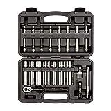 TEKTON 3/8 Inch Drive 6-Point Socket & Ratchet Set, 35-Piece (1/4-1 in.)   SKT15101 (Tamaño: 35-pc. Inch Set)