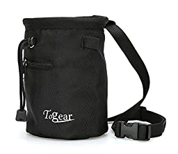 Chalk Bag for Rock Climbing, Weightlifting, Bouldering & Gymnastics with Drawstring Closure, Quick-clip Belt and Valuables Securely Holding Zippered Pocket - Lifetime Guarantee