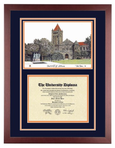 Black Friday Illinois Diploma With Artwork In Standard