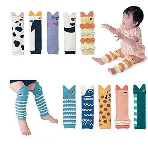 10 Pack Baby Toddler Leg Sleeve Warmers - Cute 3D Knee Socks Protector Warmer