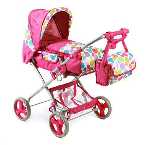 Bayer Chic 2000 586T17 - Kombi-Puppenwagen Bambina, Bubbles, pink