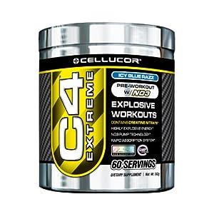 Cellucor C4 Extreme Workout Supplement, Icy Blue Razz, 342 Gram