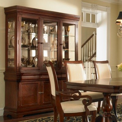 Buy low price broyhill bryson china cabinet with hutch in for B q dining room cabinets