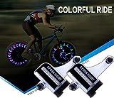 MyArmor 2個セット 自転車 LED ホイールライト 光・振動センサーでON/OFF 節電 防水 タイヤを回すと綺麗な光の模様ができる イルミネーション ライト オシャレに輝く