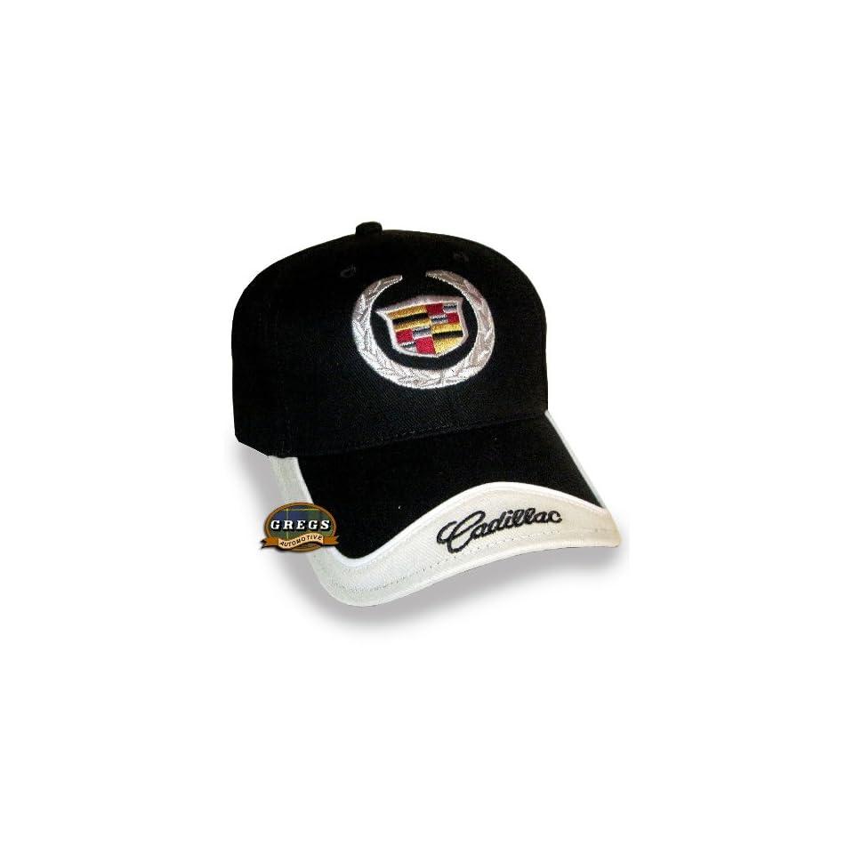 52ea9c97a2c Cadillac Crest Hat Cap Black Bone (Apparel Clothing) on PopScreen