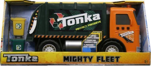 Tonka Lights & Sound – Mighty Fleet Hyper Lighting – Metro Sanitation Department Truck – Garbage Truck [Toys & Games] Holiday Toy