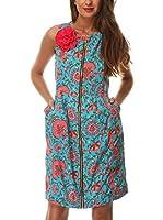 Almatrichi Vestido Clavel (Turquesa / Coral)