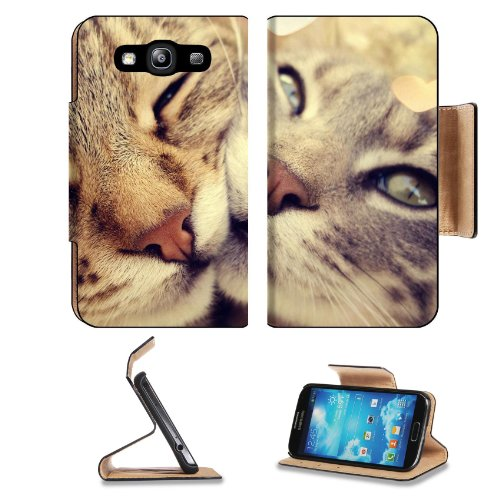 Snuggling Adorable Fluffy Kittens Samsung Galaxy S3 I9300 Flip Cover Case With Card Holder Customized Made To Order Support Ready Premium Deluxe Pu Leather 5 Inch (132Mm) X 2 11/16 Inch (68Mm) X 9/16 Inch (14Mm) Liil S Iii S 3 Professional Cases Accessori