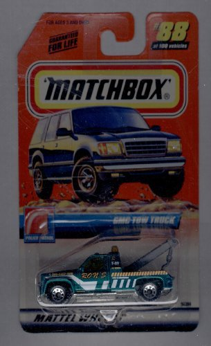 Matchbox 1999-88 of 100 Series 18 Police Patrol GMC TOW Truck 1:64 Scale (Gmc Truck Scale compare prices)