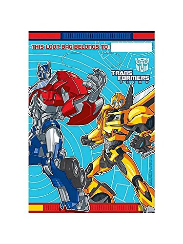 Read About Transformers Prime Party Loot Bags 8 Pack