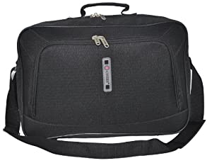 Business Cabin Approved Executive Luggage, 50cm/55cm Suitcase Baggage, Perfect for Professional Work Trips and as Lightweight Hand Luggage Flight Bags, Rolling trolley/Wheeled Laptop Carry On Case Suitable for Ryanair, Easyjet & More! (Flight Bag) (Black