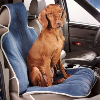 Luxury Single Pet Seat Cover - Granite - Grandin Road