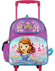 "Disney Junior Sofia The First Lovely Castle 12"" Toddler Rolling Backpack"