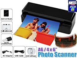 PS-A60 with 4GB Black A6 Size 3-in-1 Film/ Slide/Photo/ Name Card Scanner
