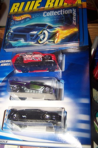 Hot Wheels Collection 2002 Blue Book 3 Pack Exclusive Vehicle 1:64 Scale - 1