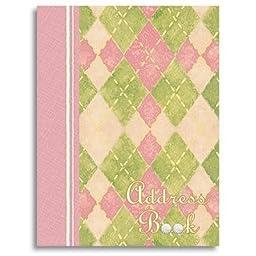 The Club Pink Plaid Golf Theme Ringbound Address Book