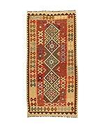 Kilim Carpets by Jalal Alfombra Kilim Kaudani (Beige/Multicolor)