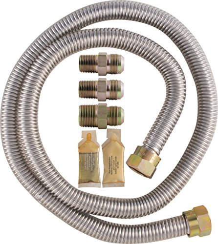 LDR 509 1400SS Gas Range Connector Kit, 5/8-Inch x 48-Inch, Stainless Steel (48 Range Gas compare prices)