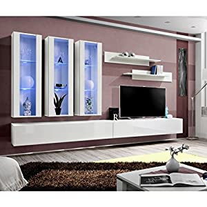 Amazoncom Idea E3 White Contemporary Wall Unit