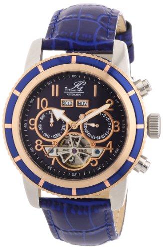 Ingraham - IG PORT.1.200165 - Montre Homme - Automatique - Analogique - Bracelet Cuir Bleu