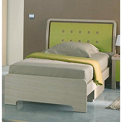 Cama + cajones. Modelo Circulos Verde 190 x 90 cm