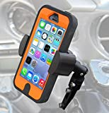 Motorcycle Cell Phone, GPS and MP3 Control Mount – the TechGripper – 18 Pound Per Inch Gripping Power with 4.3″ Gripping Range Will Securely Hold All Smartphones While Even In Its Case and Many Other Personal Devices Such as GPS Navigation Systems and MP3 Players to Your Motorcycle, ATV or Other Powersport Vehicle. Lifetime Warranty thumbnail