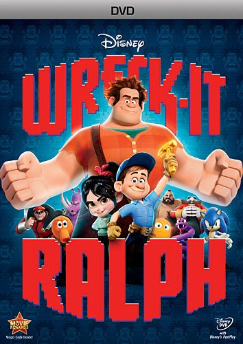 Wreck-It Ralph (Directed by Rich Moore) - Prepare for adventure when 'the most original film in years' (Bryan Erdy, CBS-TV) that thrilled audiences of all ages drops on Blu-ray! From Walt Disney Animation Studios comes a hilarious, arcade-game-hopping journey in Disney's Wreck-It Ralph. For decades, Ralph has played the bad guy in his popular video game. In a bold move, he embarks on an action-packed adventure and sets out to prove to everyone that he is a true hero with a big heart. As he explores exciting new worlds, he teams up with some unlikely new friends including feisty misfit Vanellope von Schweetz. Then, when an evil enemy threatens their world, Ralph realizes he holds the fate of the entire arcade in his massive hands. Featuring an all-star voice cast and breakthrough bonus features that take you even deeper into the world of video games, Disney's Wreck-It Ralph has something for every player.