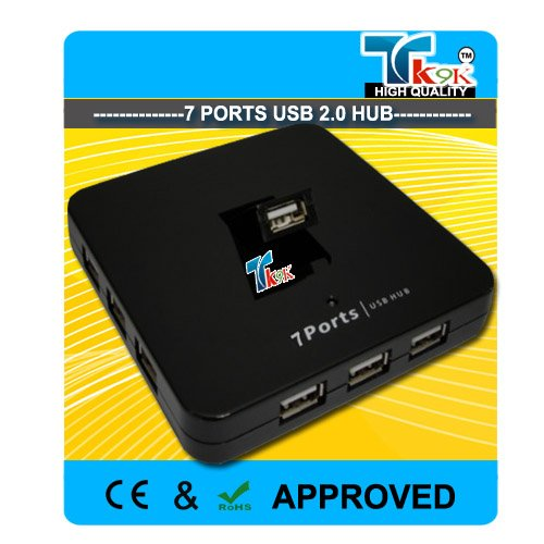 Imustbuy USB 2.0 7, Port Powered Hub ports USB HUB, inc. UK PSU