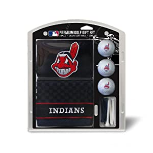 MLB Cleveland Indians Embroidered Towel Gift Set, Navy by Team Golf