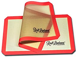 RedLantana Nonstick Silicone Baking Mat - Set of 2 - Half Sheet Pan Size