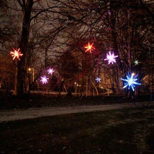 "Mr. Light 44255 Solar Starburst ""Curtain Light"" Garland With Bright White Led'S, 10-Piece"