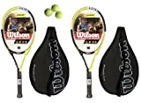 2 x Wilson Pro Competition tennis rackets L3 + 3 Tennis Balls RRP £90