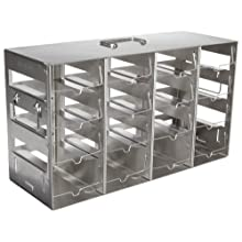 Nalgene 5039-0048 Stainless Steel Horizontal Storage Rack for Multiwell Plates, 16-Shelf, 13.9cm Depth x 38.7cm Width x 21.6cm Height