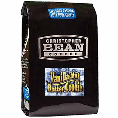 Christopher Bean Coffee Flavored Whole Bean Coffee, Vanilla Nut Butter Cookie, 12 Ounce (Coffee Bean French Vanilla compare prices)