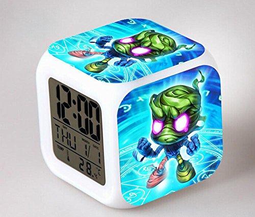 GUOHUA®Ligue des légendes Anime Cartoon création réveil coloré pour enfants réveil réveil numérique horloge analogique horloge lumineuse , # 2