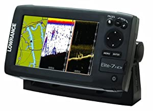 Lowrance Elite-7 Base Combo Dual-imaging Chartplotter with 83 200 455 800 KHz HD Skimmer by Lowrance