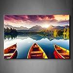 First Wall Art - Mountain Lake Sunset...