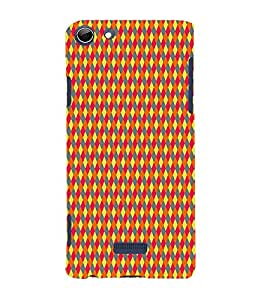 Colorful Net Pattern 3D Hard Polycarbonate Designer Back Case Cover for Micromax Canvas Selfie 3 Q348