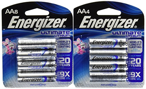 Energizer Ultimate Lithium AA 12 Battery Super Pack (Aa Lithium Batteries compare prices)