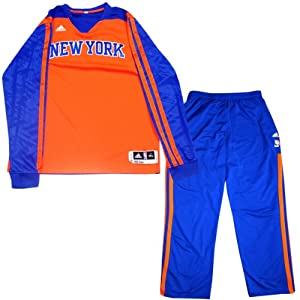 Kenyon Martin Warmup Set - NY Knicks Game Used #3 Blue Warmup Pants and Long Sleeve... by Steiner Sports