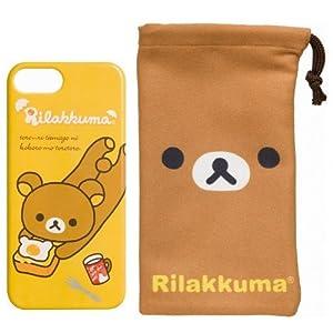 リラックマ【iPhone5ケース】モーニング/ハードタイプ+クリーナーポーチ(フェイス)