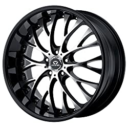 20×8.5 Lorenzo WL27 (Gloss Black w/ Machined Face) Wheels/Rims 5×115 (WL02728515315A)