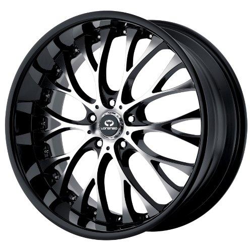 19x8 Lorenzo WL27 (Gloss Black w/ Machined Face) Wheels/Rims 5x112 (WL02798056332A)