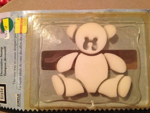 "Decorative Painting Stamp Teddy Bear 3"" H X 3-1/2"" W - 1"