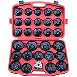 Coffret de 28 clés cloche pour filtre à huile - avec un adaptateur + une clé universelle + une mallette...