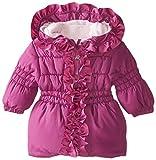 Pink Platinum Baby-Girls' Ruffle Puffer Coat