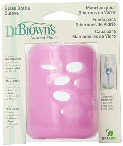 Dr. Brown's Glass Bottle Sleeve, Pink, 4 Ounce
