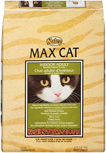 NUTRO MAX CAT Indoor Adult Roasted Chicken Flavor Dry Cat Food 16 Pounds (Nutro Max Canned Cat Food compare prices)
