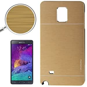 Crazy4Gadget 2 in 1 Brushed Texture Metal & Plastic Protective Case for Samsung Galaxy Note 4 / N910(Gold)